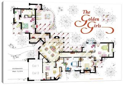 Floorplan From The Golden Girls Tv Series Canvas Art Print