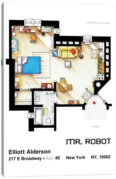 Apartment From Mr Robot Canvas Art Print