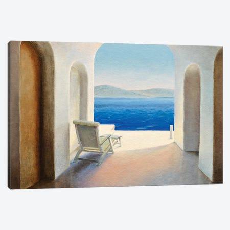 Santorini IX Canvas Print #TVN3} by Trevor Neal Canvas Print
