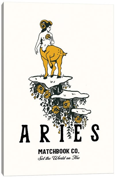 Toile Aries Matchbook Poster.Psd Canvas Art Print