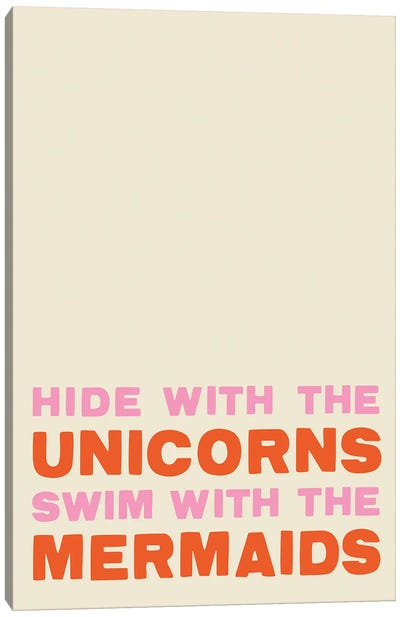 Unicorns Mermaids Canvas Art Print