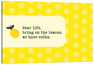 Vodka Lemon Canvas Art Print