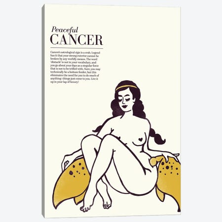 Zodiac Gold Cancer Canvas Print #TWG110} by The Whiskey Ginger Art Print