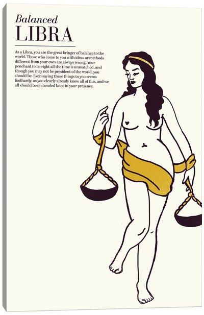 Zodiac Gold Libra Canvas Art Print