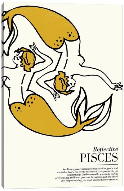 Zodiac Gold Pisces Canvas Art Print