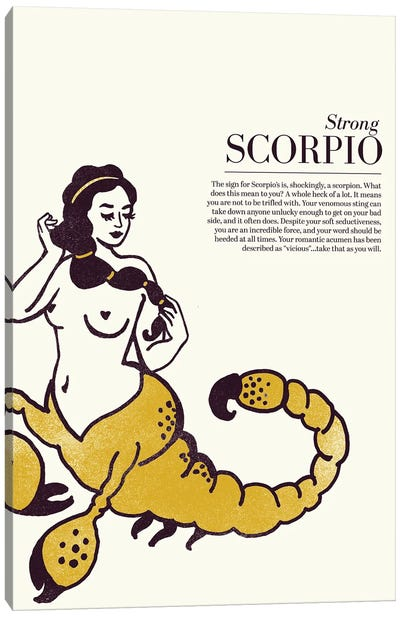 Zodiac Gold Scorpio Canvas Art Print