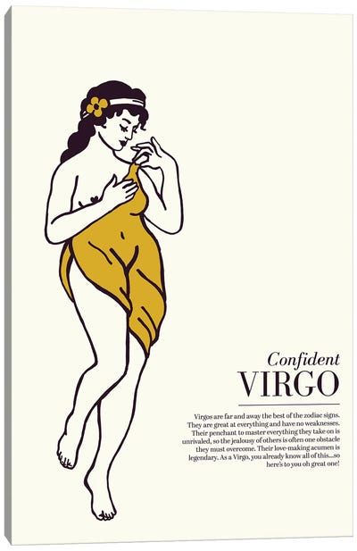 Zodiac Gold Virgo Canvas Art Print