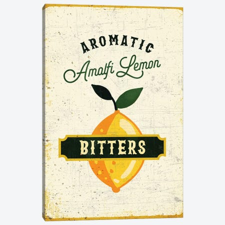 Botanical Gin Lemon Bitters Canvas Print #TWG14} by The Whiskey Ginger Canvas Art