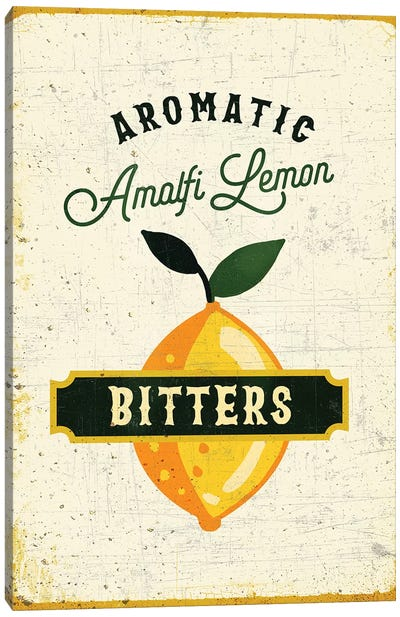 Botanical Gin Lemon Bitters Canvas Art Print