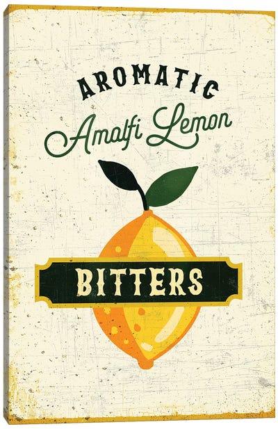 Botanical Gin Lemon Bitters Canvas Art Print