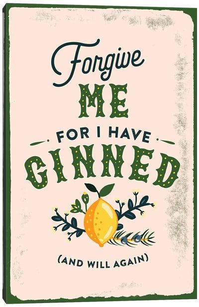 Botanical Gin Sin Canvas Art Print