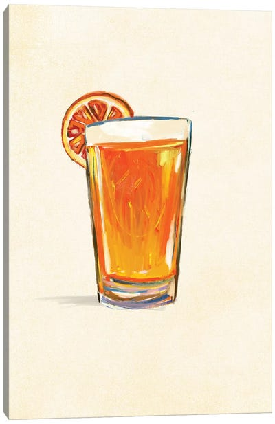 Craft Beer Belgian White Solo Canvas Art Print