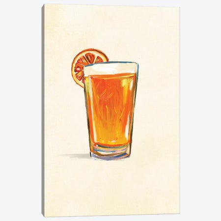 Craft Beer Belgian White Solo Canvas Print #TWG23} by The Whiskey Ginger Canvas Art