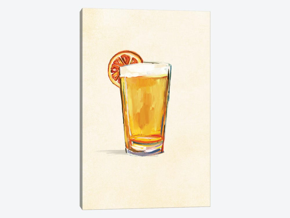Craft Beer Blonde Solo by The Whiskey Ginger 1-piece Canvas Art Print