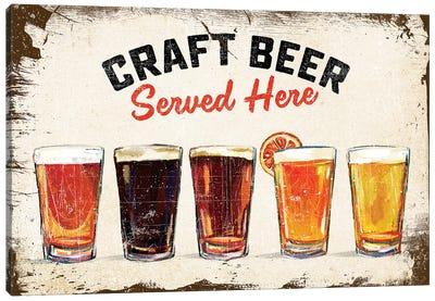 Craft Beer Lineup Vintage Sign Canvas Art Print