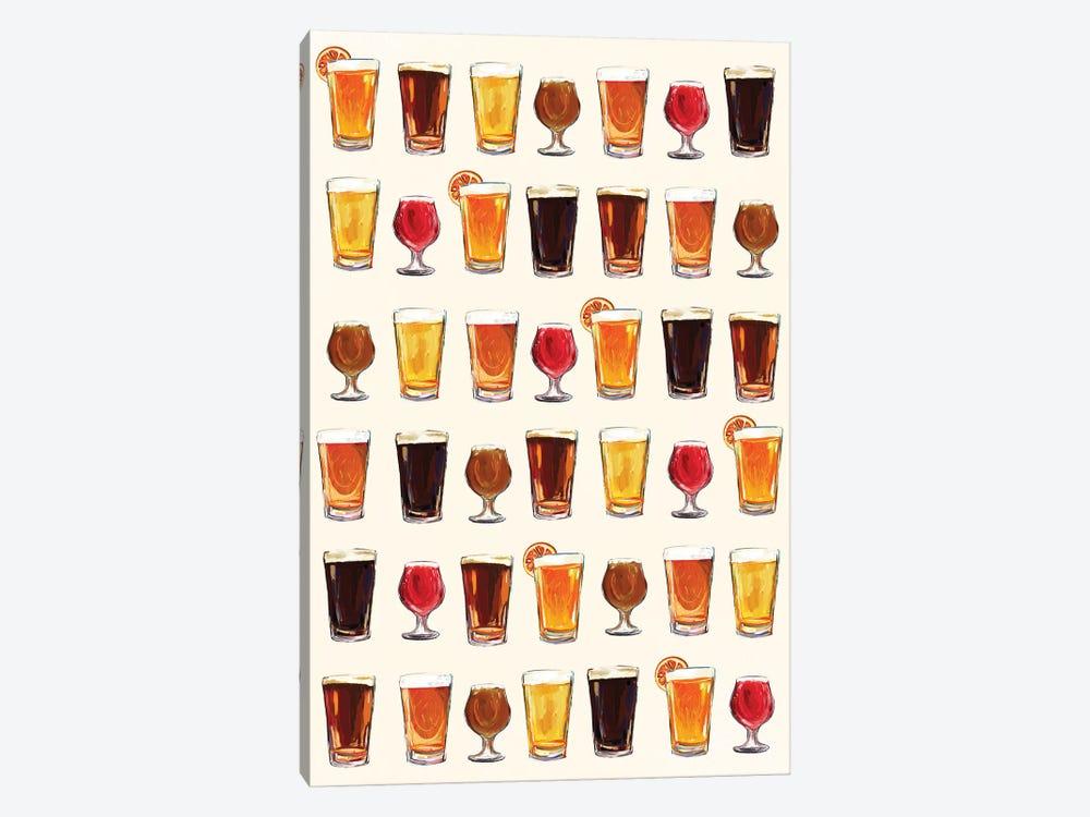Craft Beer Pattern by The Whiskey Ginger 1-piece Canvas Art Print