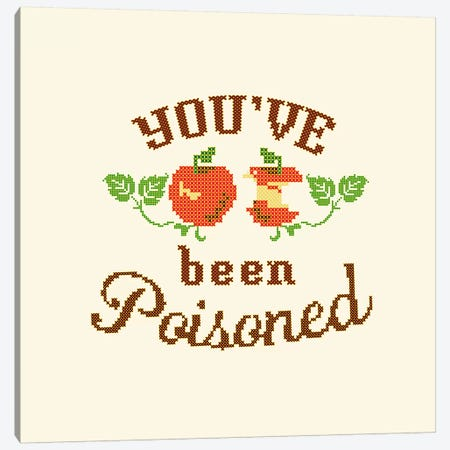 Apple Poison Crossstitch Canvas Print #TWG2} by The Whiskey Ginger Art Print