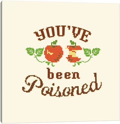 Apple Poison Crossstitch Canvas Art Print
