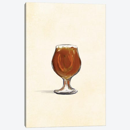 Craft Beer Saisan Solo Canvas Print #TWG30} by The Whiskey Ginger Art Print