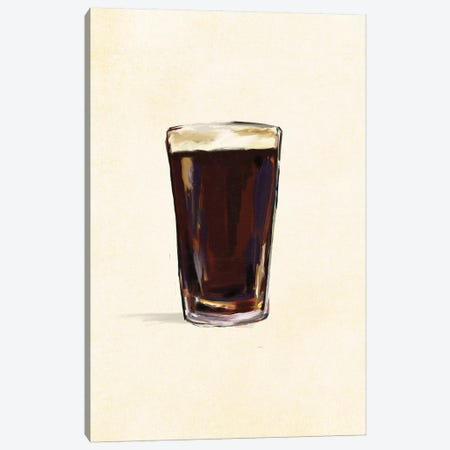 Craft Beer Stout Solo Canvas Print #TWG31} by The Whiskey Ginger Canvas Art Print
