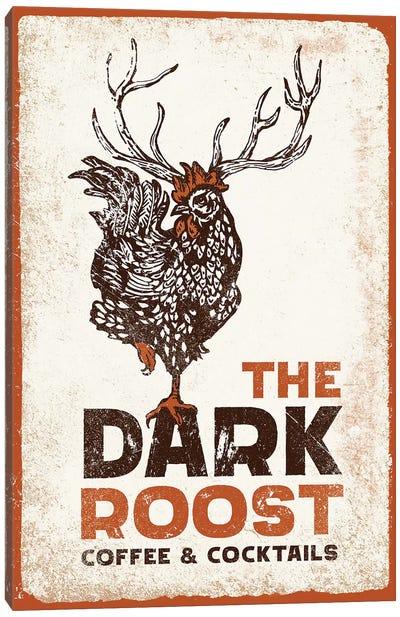 Dark Rooster Burnt Orange Canvas Art Print