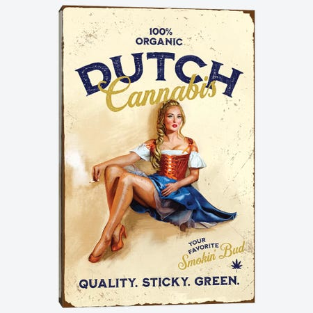 Dutch Cannabis Canvas Print #TWG36} by The Whiskey Ginger Canvas Wall Art