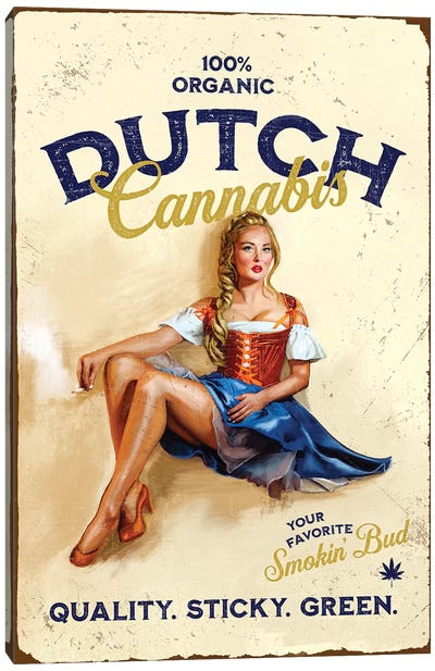 Dutch Cannabis Canvas Art Print