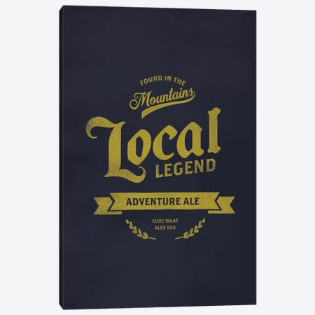 Man Cave Adventure Ale Canvas Print #TWG41} by The Whiskey Ginger Canvas Wall Art