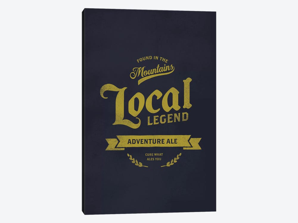 Man Cave Adventure Ale by The Whiskey Ginger 1-piece Canvas Artwork