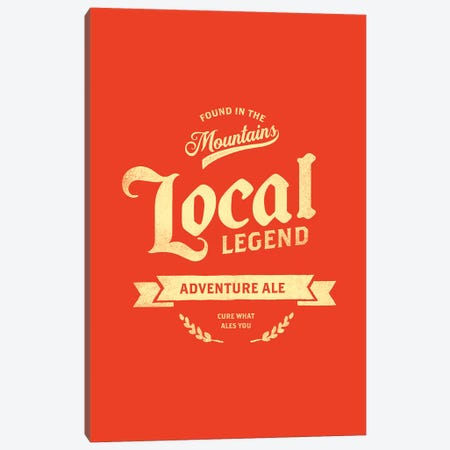 Man Cave Adventure Ale Red Canvas Print #TWG42} by The Whiskey Ginger Canvas Art