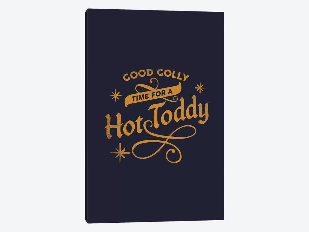Apres Ski Hot Toddy Lettering by The Whiskey Ginger 1-piece Canvas Wall Art