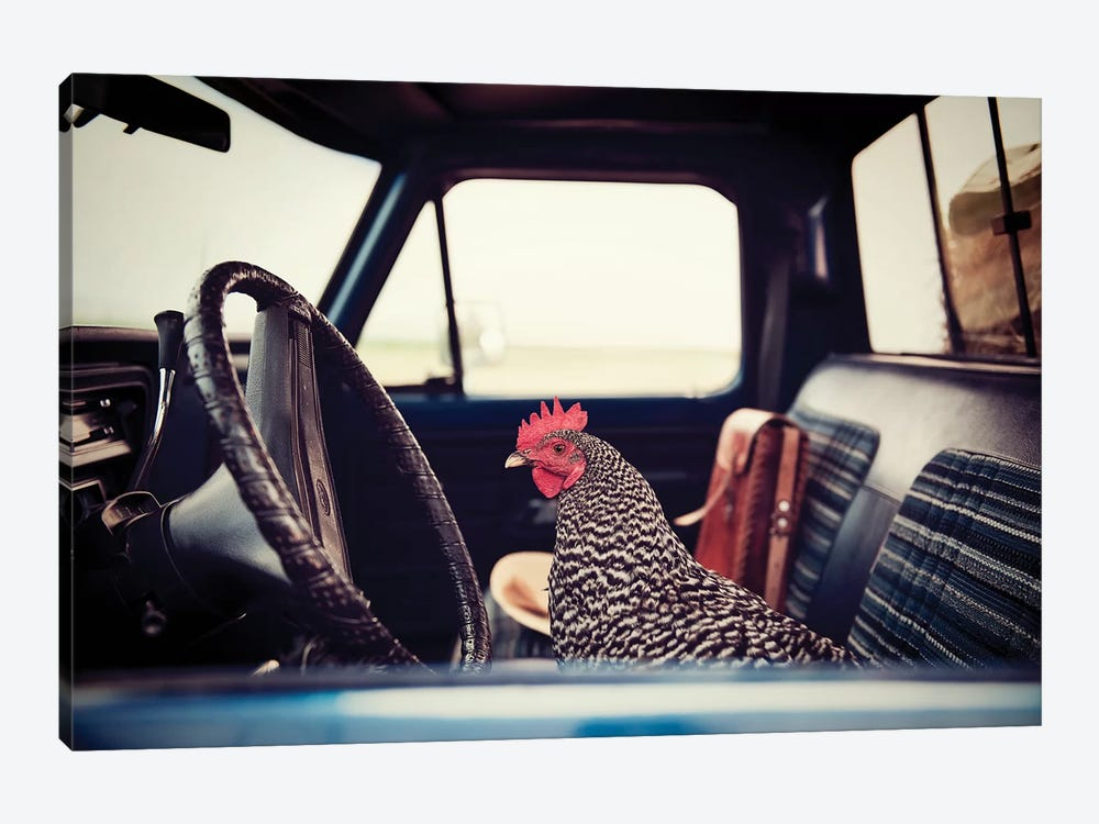 Hen Sunday Drive by The Whiskey Ginger 1-piece Art Print