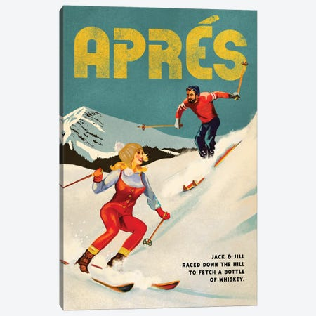 Apres Ski Jack And Jill Whiskey Canvas Print #TWG5} by The Whiskey Ginger Canvas Wall Art