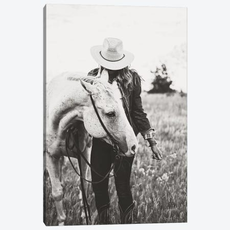 Silver Horse Canvas Print #TWG63} by The Whiskey Ginger Canvas Wall Art