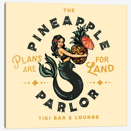 Pineapple Parlor Canvas Print #TWG66} by The Whiskey Ginger Art Print