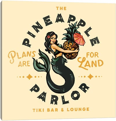 Pineapple Parlor Canvas Art Print