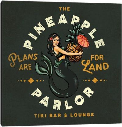 Pineapple Parlor Dark Canvas Art Print