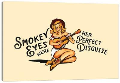 Smokey Eyes Cowgirl Canvas Art Print