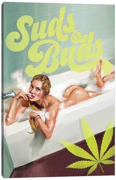 Suds Buds Cannabis Risque Canvas Art Print