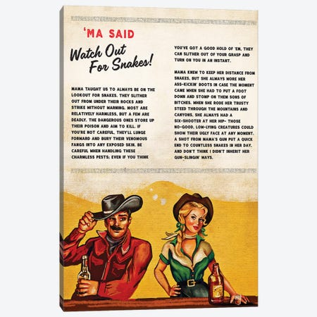 Tallboys Tales Charmless Snakes Story Canvas Print #TWG75} by The Whiskey Ginger Canvas Wall Art