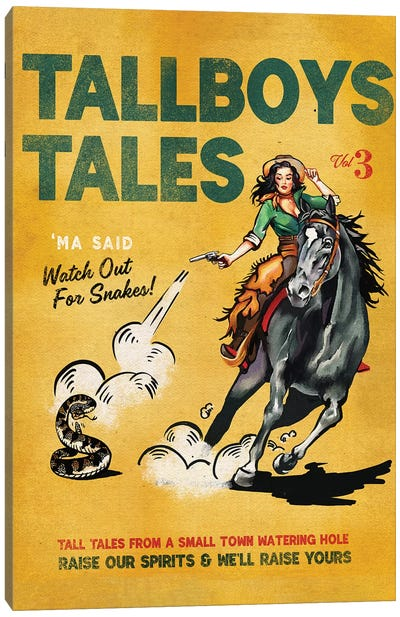 Tallboys Tales Sharmless Snakes Cover Canvas Art Print