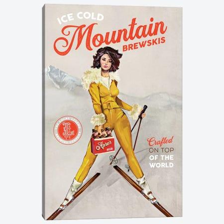 Apres Ski Mountain Brewski Canvas Print #TWG7} by The Whiskey Ginger Canvas Artwork