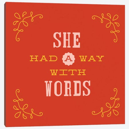 Way With Words Lettering Canvas Print #TWG82} by The Whiskey Ginger Canvas Art