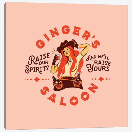Western Ginger Saloon Canvas Print #TWG83} by The Whiskey Ginger Canvas Art