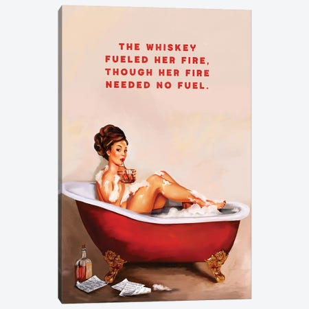 Whiskey Fuel Fire Bath Canvas Print #TWG87} by The Whiskey Ginger Canvas Print