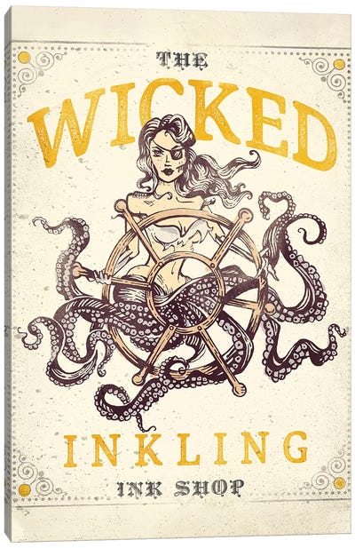 Wicked Inkling Octopus Lady Canvas Art Print