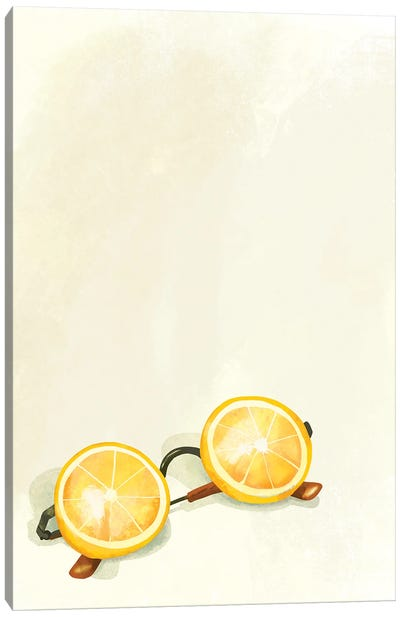 Lemon Sunglasses Canvas Art Print
