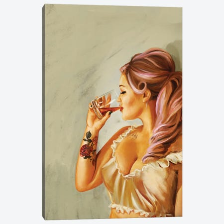 Pin Up Rose Tattoo Canvas Print #TWG98} by The Whiskey Ginger Canvas Art Print