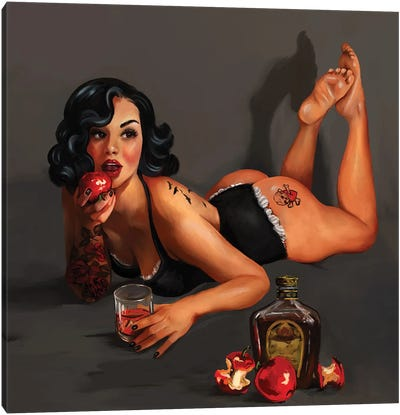 Poison Apple Pin Up Canvas Art Print
