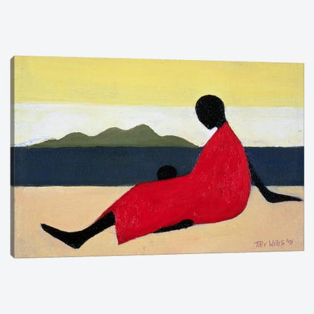 Mother And Child Canvas Print #TWI12} by Tilly Willis Canvas Print
